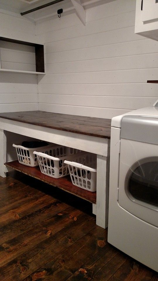 Basement Laundry Room Makeover