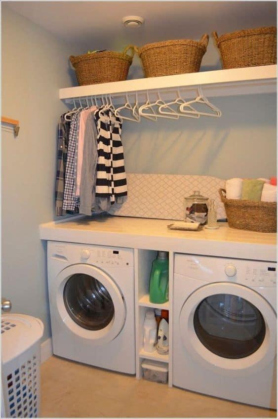 Basement Laundry Room Storage Ideas