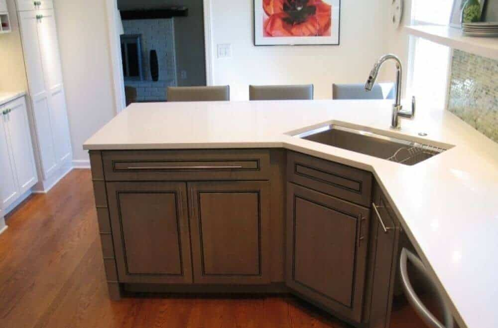 15 Awesome Corner Kitchen Sink Ideas - Liquid Image