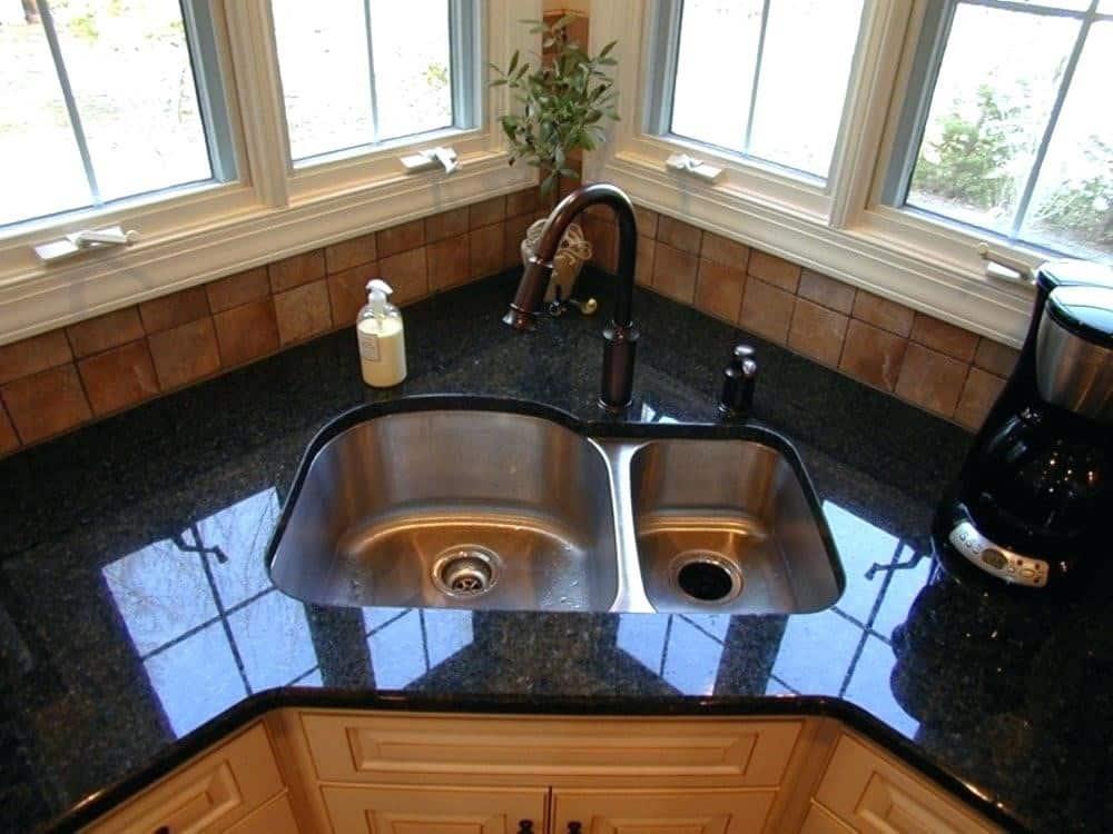 15 Awesome Corner Kitchen Sink Ideas - Liquid Image