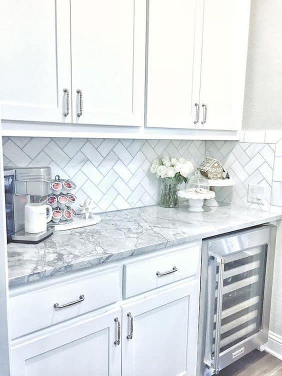 Granite Countertops White Cabinets