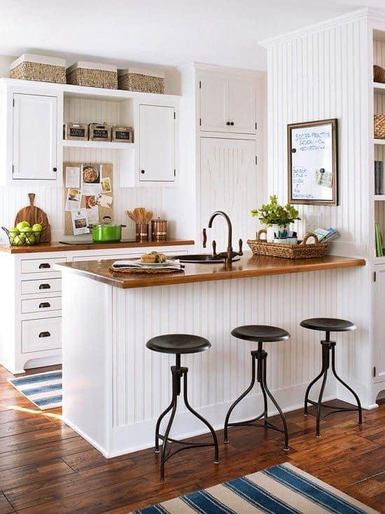 Kitchens White Antique U-Shaped