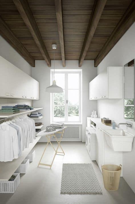 Large Basement Laundry Room Ideas
