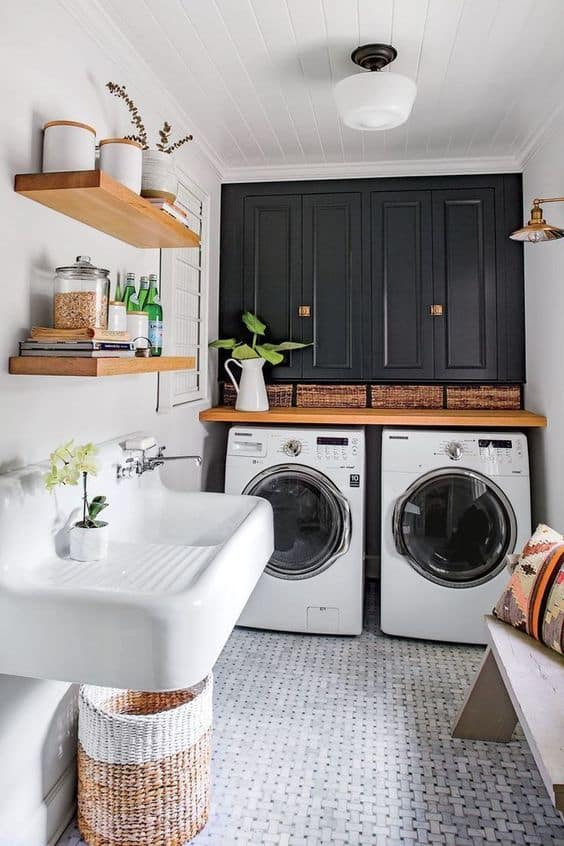 Natural Basement Laundry Room Ideas