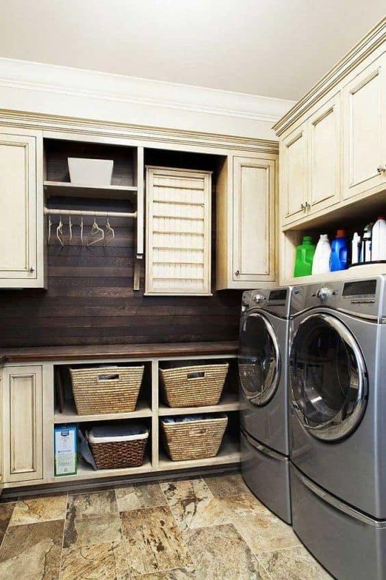 Rusty Chic Laundry Room Decor