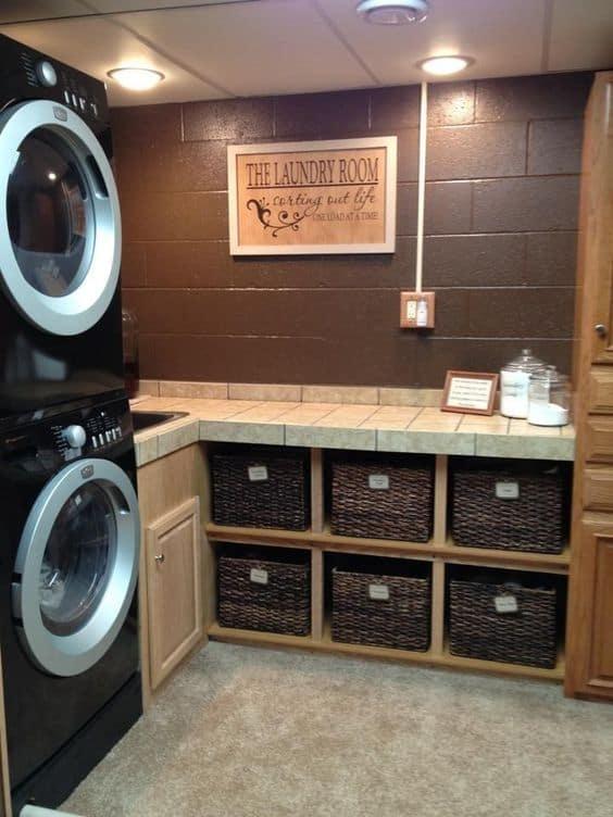 Small Basement Laundry Room Ideas
