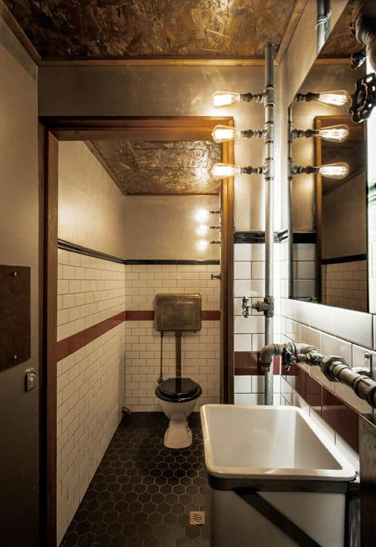 Classy Steampunk Bathroom Ideas Liquid Image