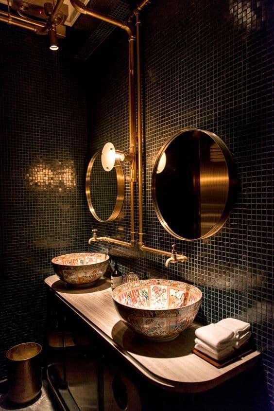 Steampunk Bathroom Mirror