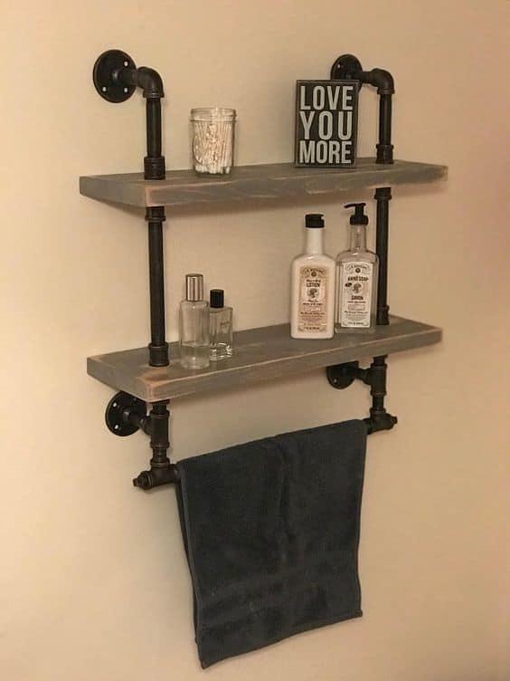Steampunk Bathroom Shelves
