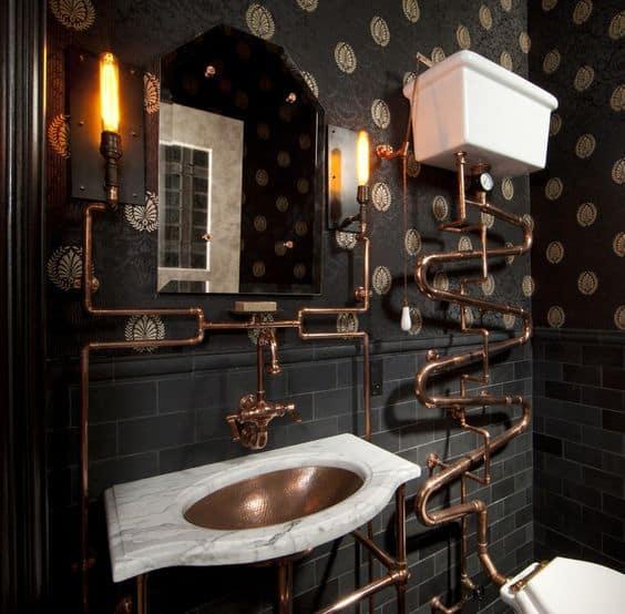 Steampunk Style Bathroom